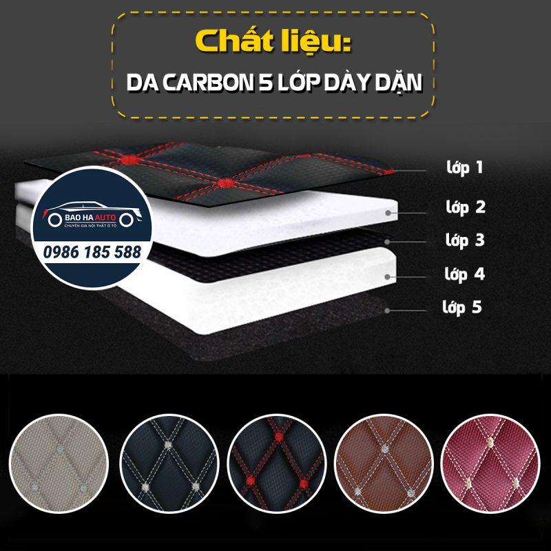Thảm lót sàn ô tô da carbon cho xe Audi (sang trọng, giá rẻ)