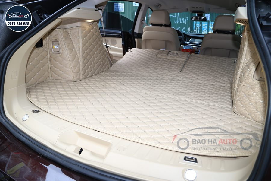 Thảm lót cốp ô tô da carbon 5D xe BMW cao cấp (giá rẻ, mẫu đẹp)