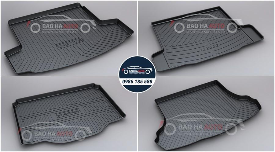 Thảm lót cốp ô tô nhựa TPO xe Chevrolet cao cấp (mẫu đẹp, giá rẻ)