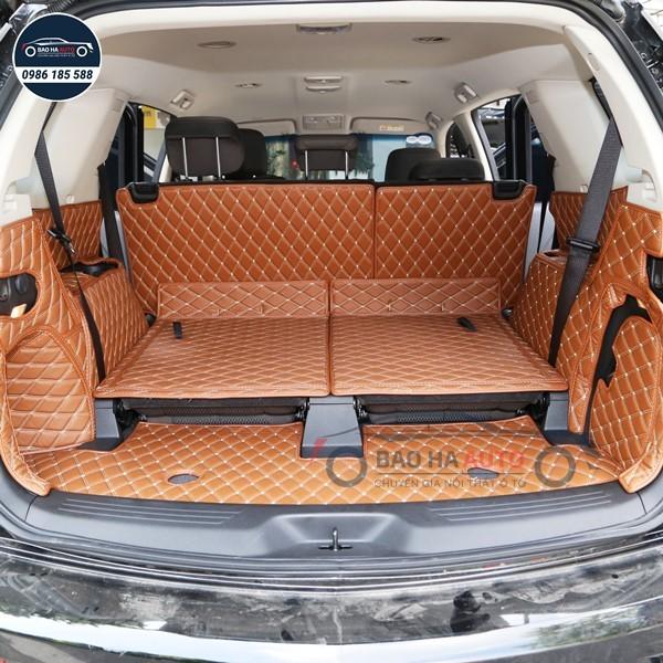Thảm lót cốp ô tô da carbon 5D xe Chervolet