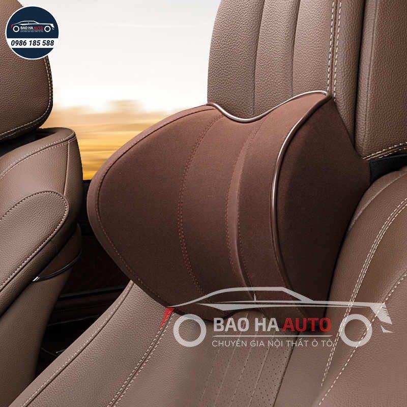 Gối tựa lưng ô tô chất liệu da 3D cao cấp (giá rẻ, đẹp)