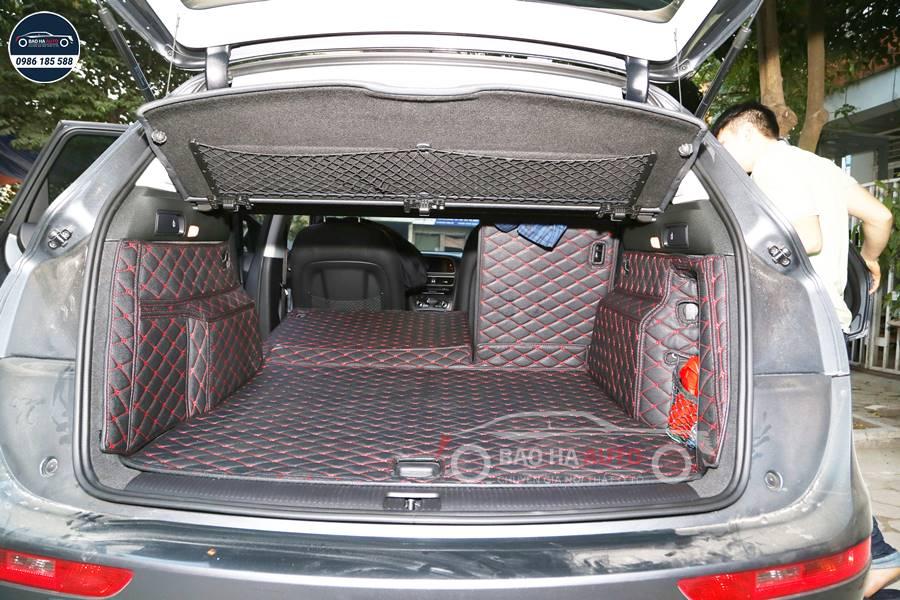 Thảm lót cốp ô tô da công nghiệp 5D xe Audi cao cấp (giá rẻ, đẹp)