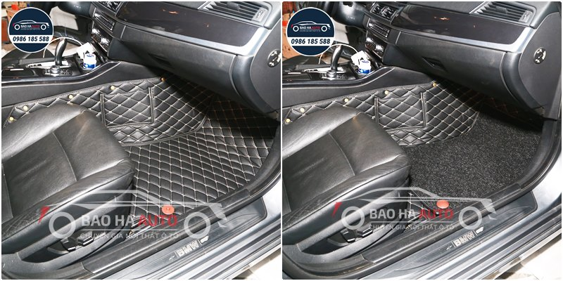 Thảm lót sàn ô tô da 5D 6D cho xe BMW (100% da cao cấp)