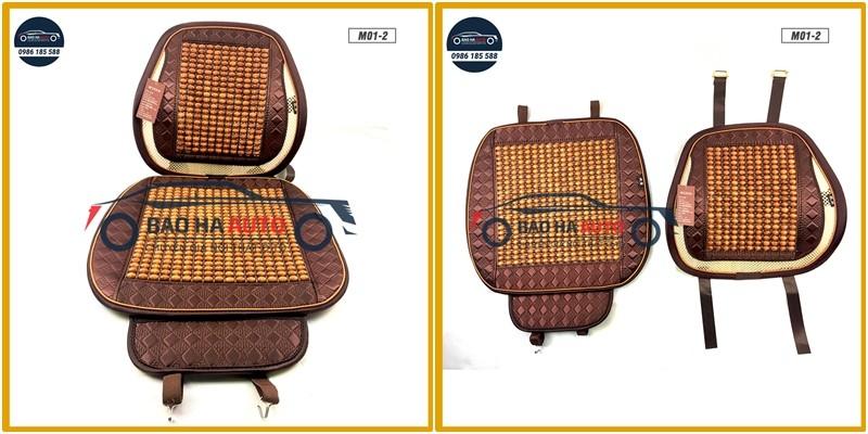 Đệm lót ghế ô tô massage hạt gỗ cao cấp (giá rẻ, đẹp)