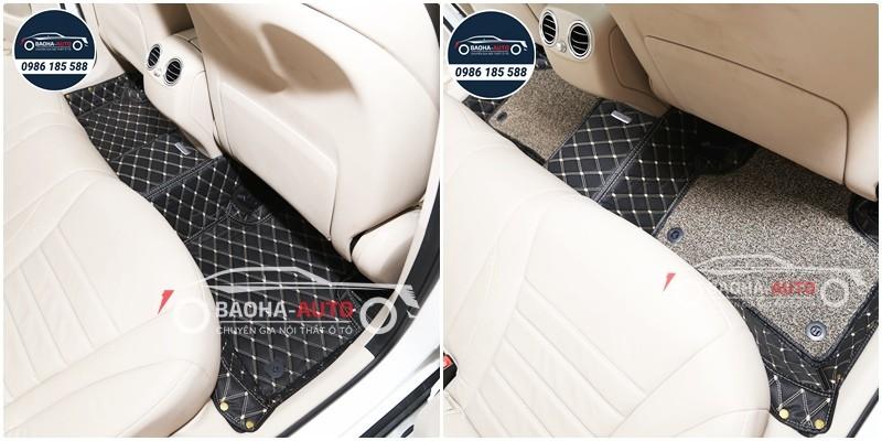 Thảm lót sàn ô tô da carbon cho xe Mercedes – Benz  (cao cấp 100%)