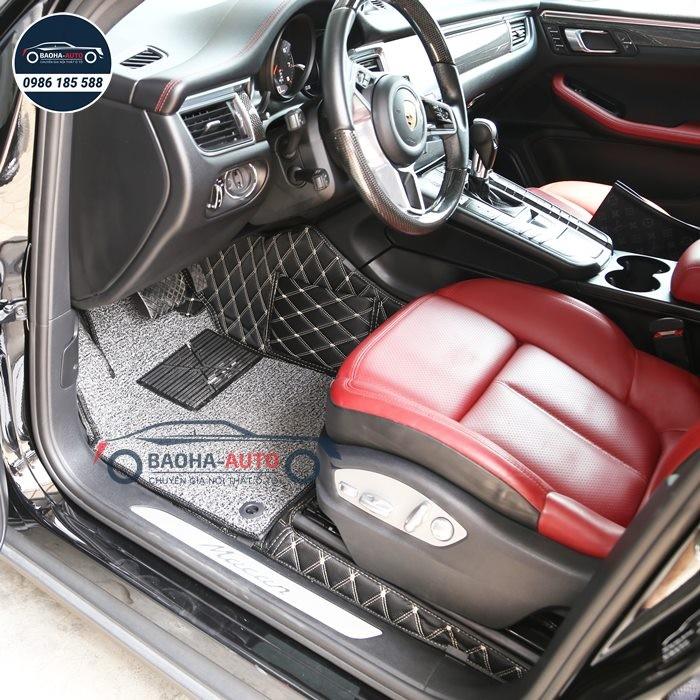 Thảm lót sàn ô tô da 5D 6D cho xe Porsche