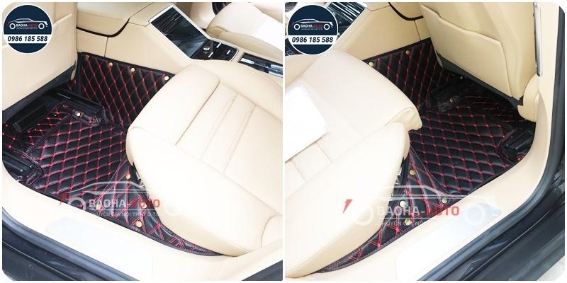 Thảm lót sàn ô tô da 5D 6D cho xe Porsche (da cao cấp, giá rẻ)