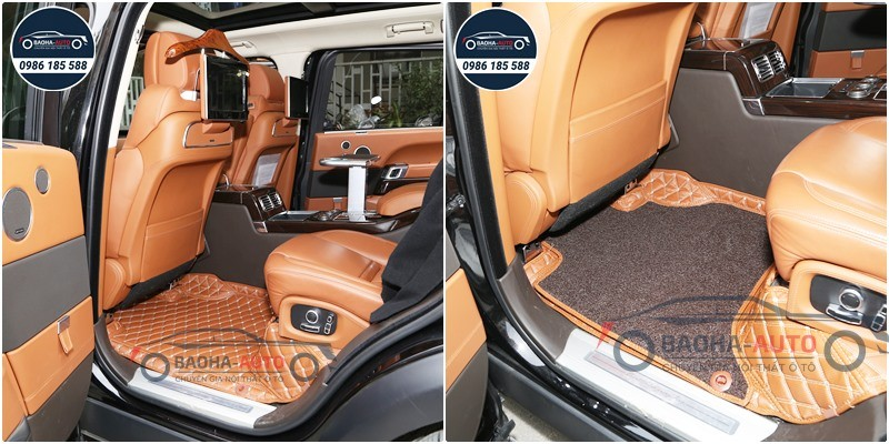 Thảm lót sàn ô tô da 5D 6D cho xe Range Rover (100% da cao cấp)