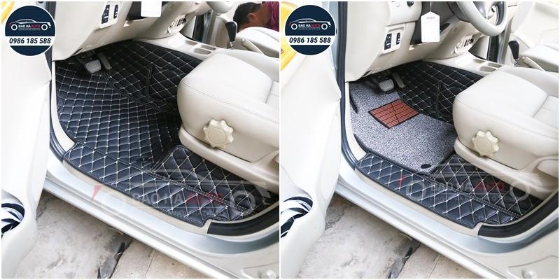 Thảm lót sàn ô tô da 5D 6D cho xe Toyota (giá rẻ, sang trọng)