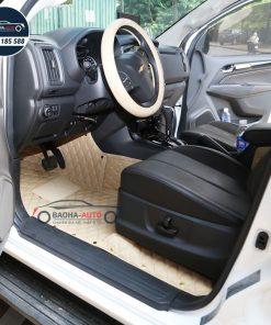 Thảm lót sàn ô tô da carbon cho xe Chervolet