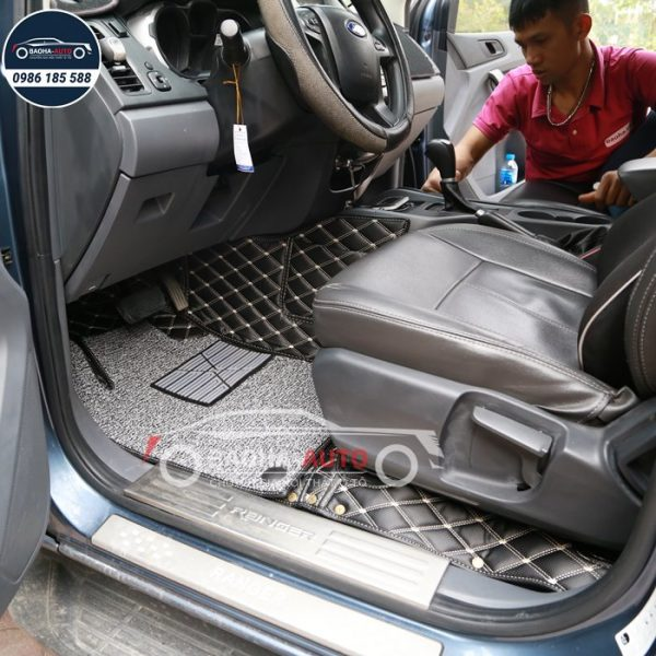 Thảm lót sàn ô tô da 5D 6D cho xe Ford