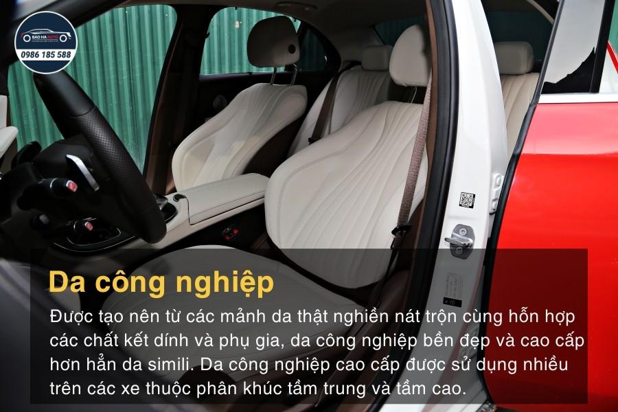 Các loại chất liệu da dùng trong bọc ghế ô tô, xe hơi