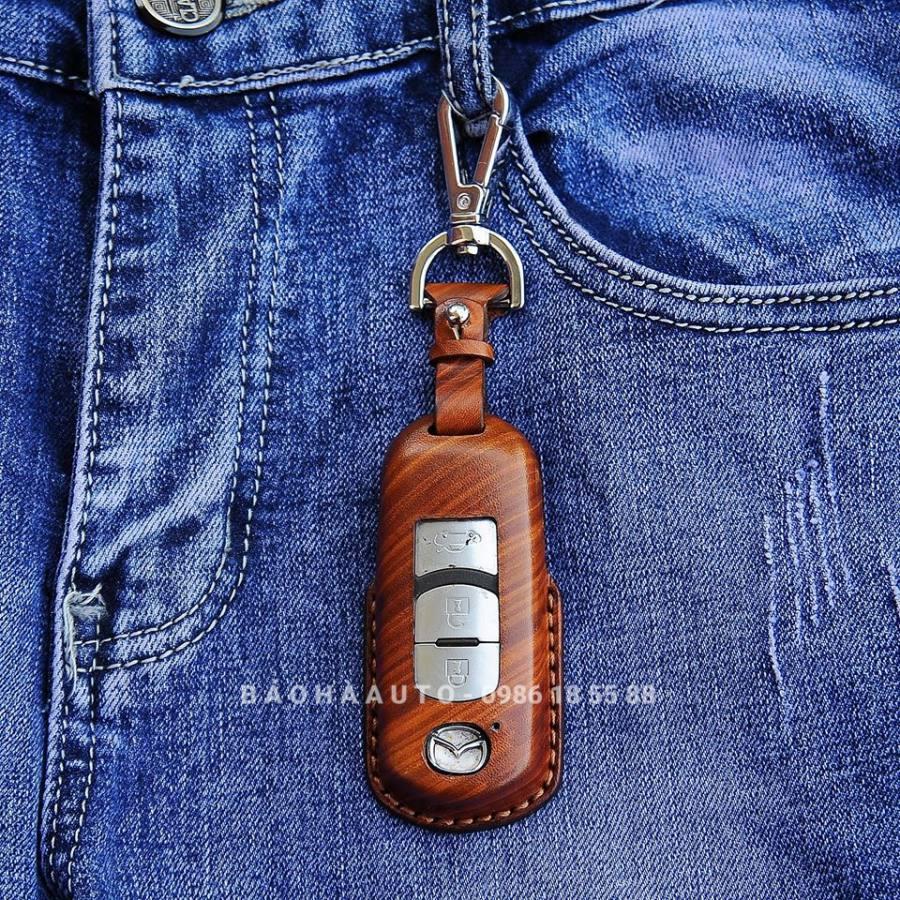 Bao da chìa khóa ô tô da bò nhập khẩu chế tác thủ công cao cấp