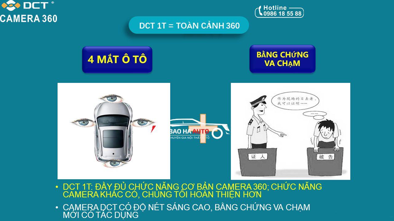 Báo giá siêu chi tiết Camera 360 DCT cho ô tô Chính Hãng