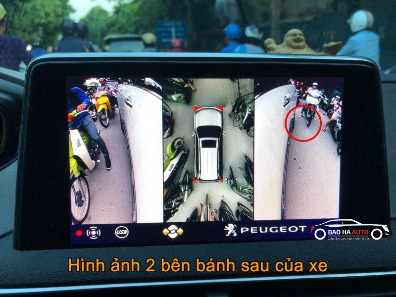 Camera 360 DCT cao cấp cho dòng xe Peugeot