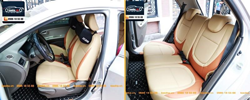 Bọc ghế da ô tô cho xe KIA da công nghiệp cao cấp