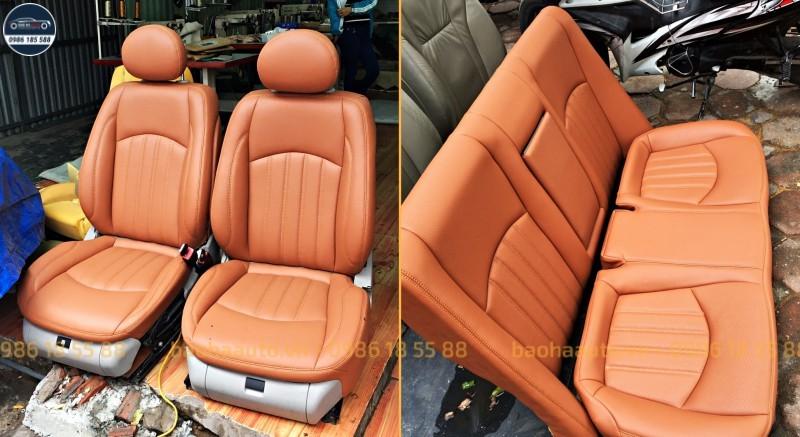 Bọc ghế da ô tô Mercedes – da thật 100% (da tự nhiên cao cấp)