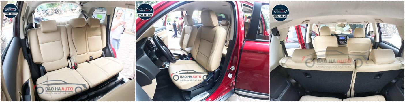 Bọc ghế da ô tô giả da Thái Lan cho xe Mitsubishi (cao cấp, giá rẻ)