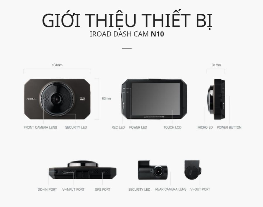 Camera hành trình Iroad N10 nhập khẩu Hàn Quốc