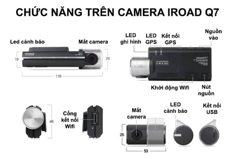 Camera hành trình Iroad Q7 nhập khẩu nguyên chiếc từ Hàn Quốc