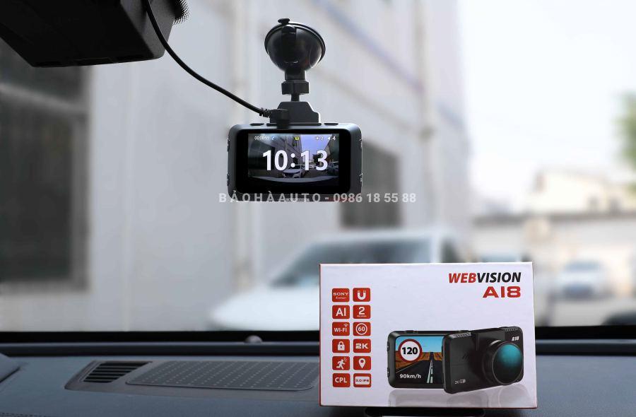 Camera hành trình ô tô Webvision A18 (cảnh báo cực nhạy + ghi hình 2k)