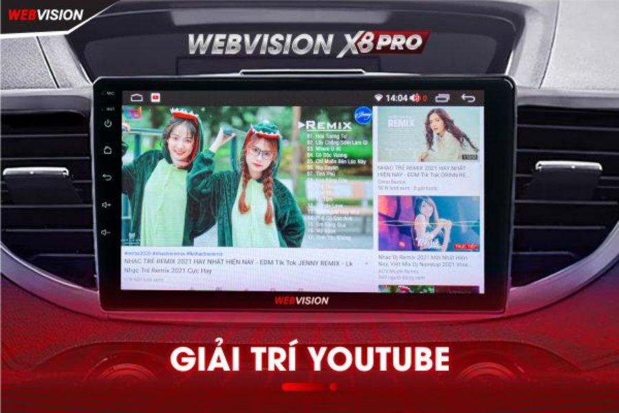 Giá Màn Hình DVD Android Ô Tô Webvision X8 Chính Hãng