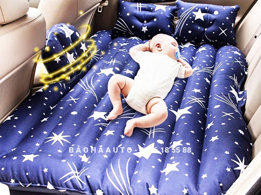 Giường hơi/đệm hơi ô tô họa tiết ngôi sao