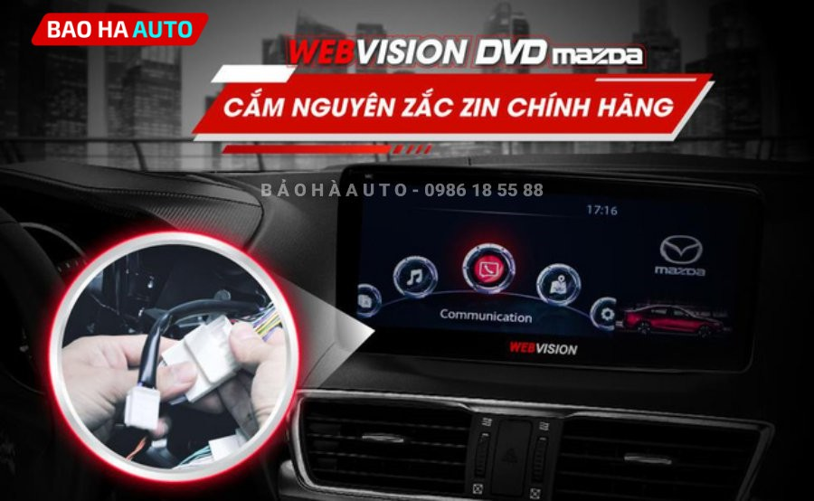 Màn hình DVD Android Webvision Mazda CX5 chính hãng