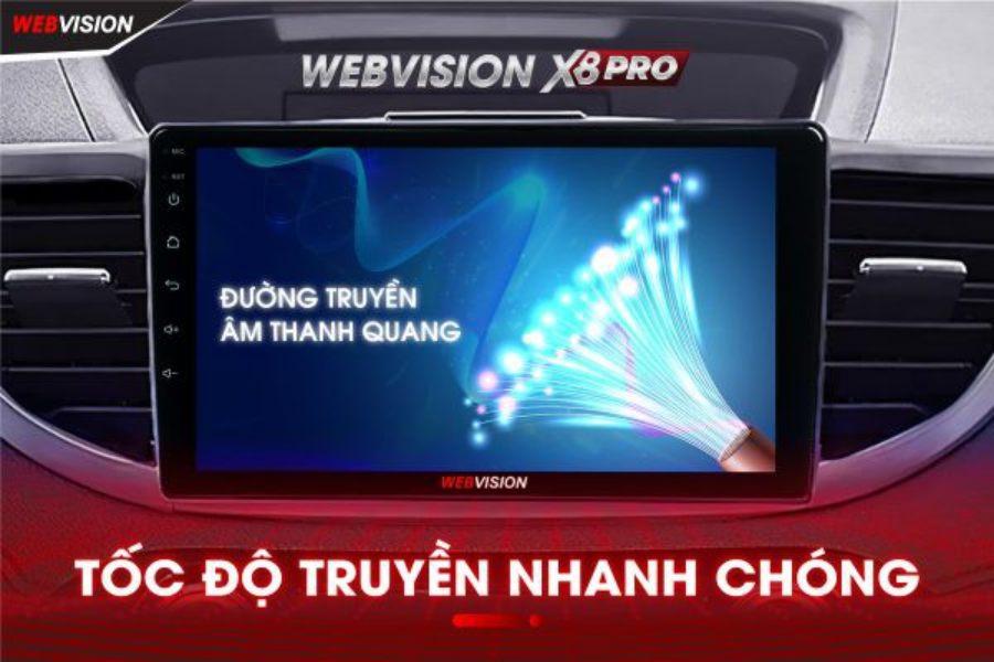 Màn Hình DVD Ô Tô Webvision X8 Pro Chính Hãng Giá Tốt