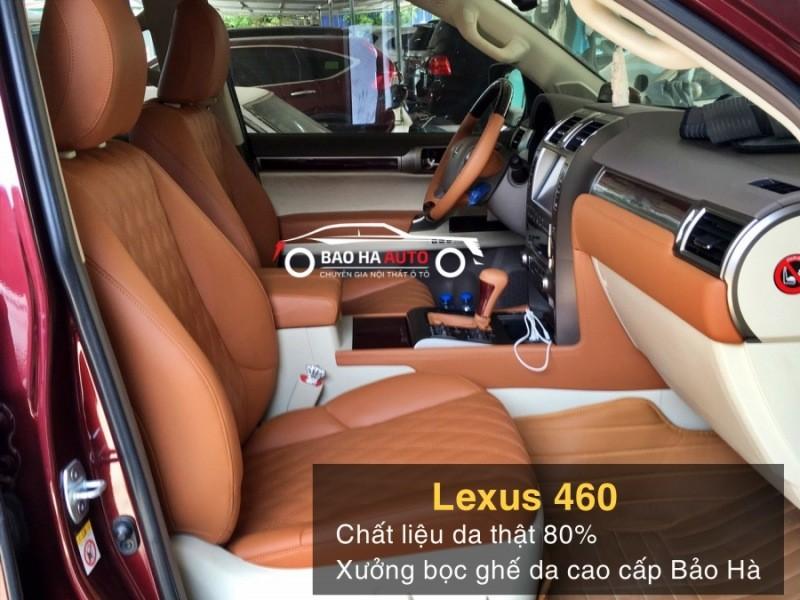 Bọc ghế da ô tô bằng chất liệu da thật