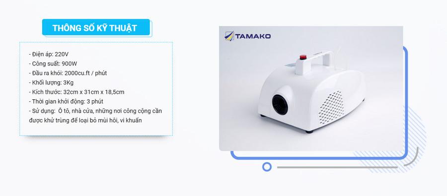 Máy khử mùi diệt khuẩn ô tô TAMAKO chính hãng giá tốt nhất