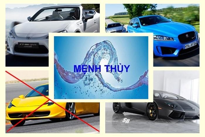 Mua xe ô tô nên chọn màu gì cho hợp mệnh Thủy