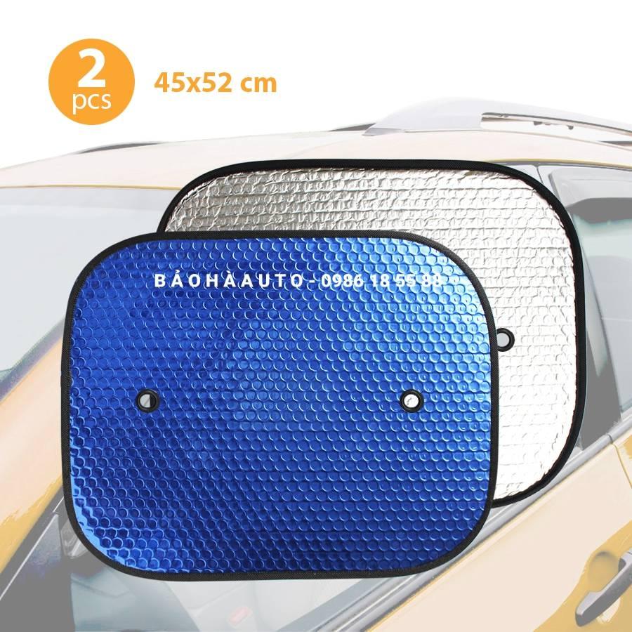 Tấm chắn che nắng cửa kính ô tô (2 miếng có nút hít chắc chắn)