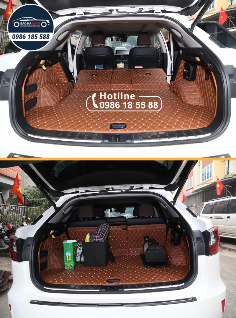 Thảm lót cốp ô tô da carbon 5D xe Lexus cao cấp (giá rẻ, đẹp)