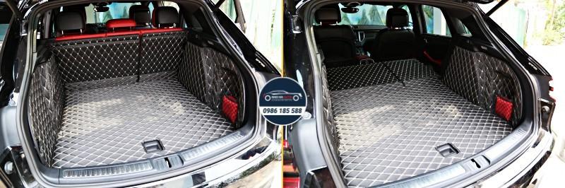 Thảm lót cốp ô tô da carbon 5d cao cấp cho xe Porsche (giá rẻ, đẹp)