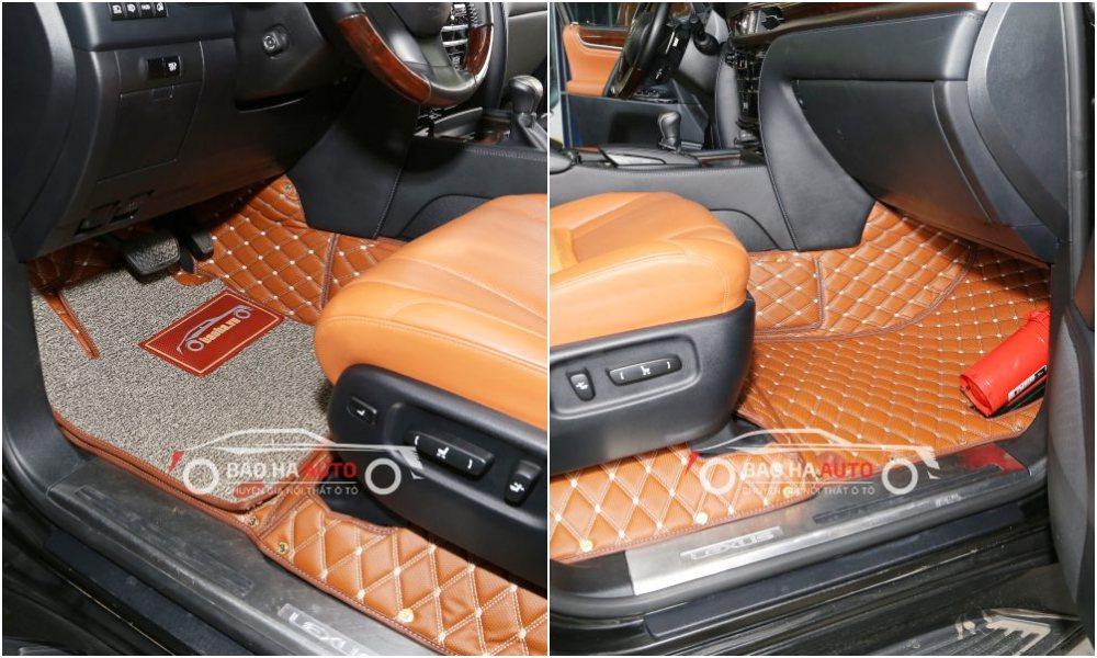 Thảm lót sàn ô tô da carbon cho xe Lexus (sang trọng, tiện lợi)