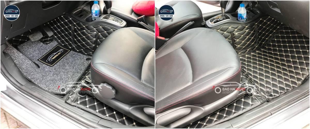 Thảm lót sàn ô tô da carbon cho xe Mitsubishi (100% da cao cấp)