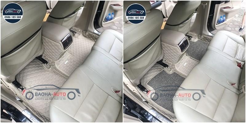 Thảm lót sàn ô tô da carbon cho xe Toyota (100% da cao cấp)