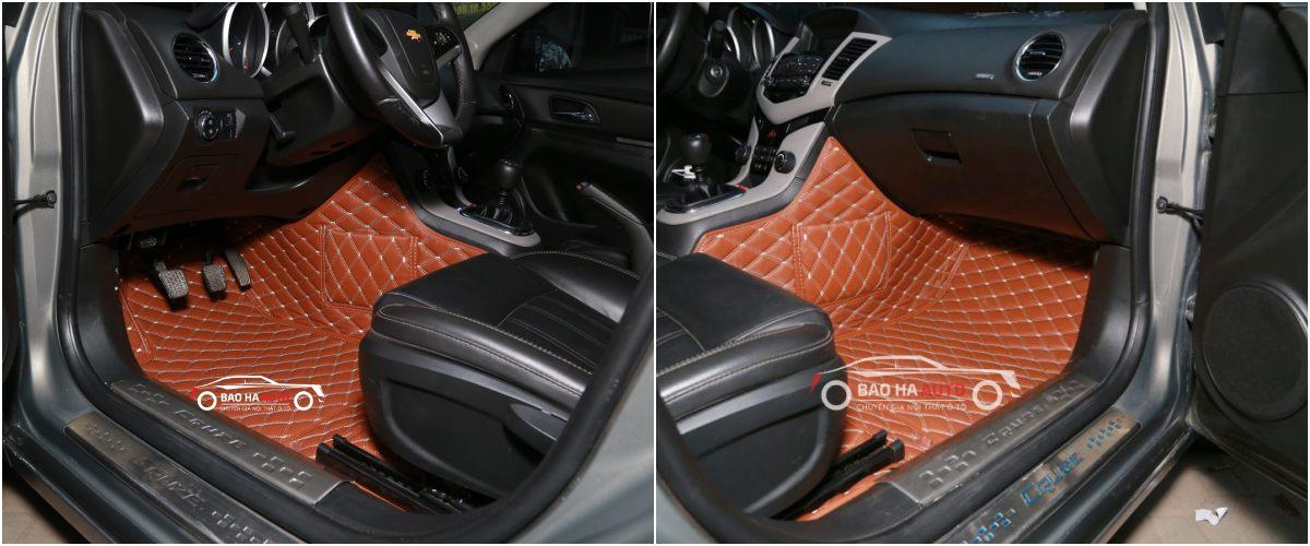 Thảm lót sàn ô tô da công nghiệp cho xe Chevrolet (100% cao cấp)