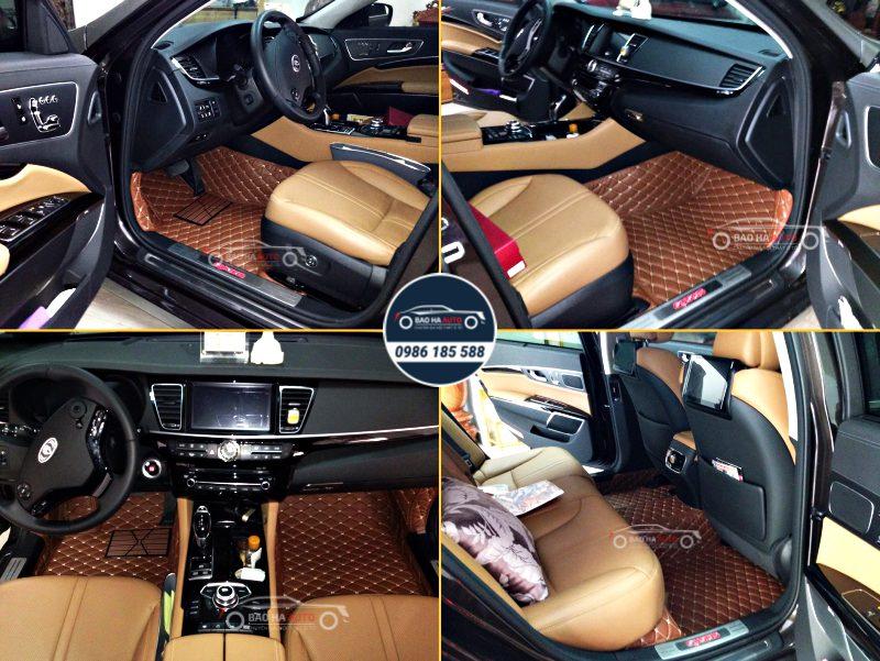 Thảm lót sàn ô tô da công nghiệp cho xe KIA (chất liệu cao cấp 100%)