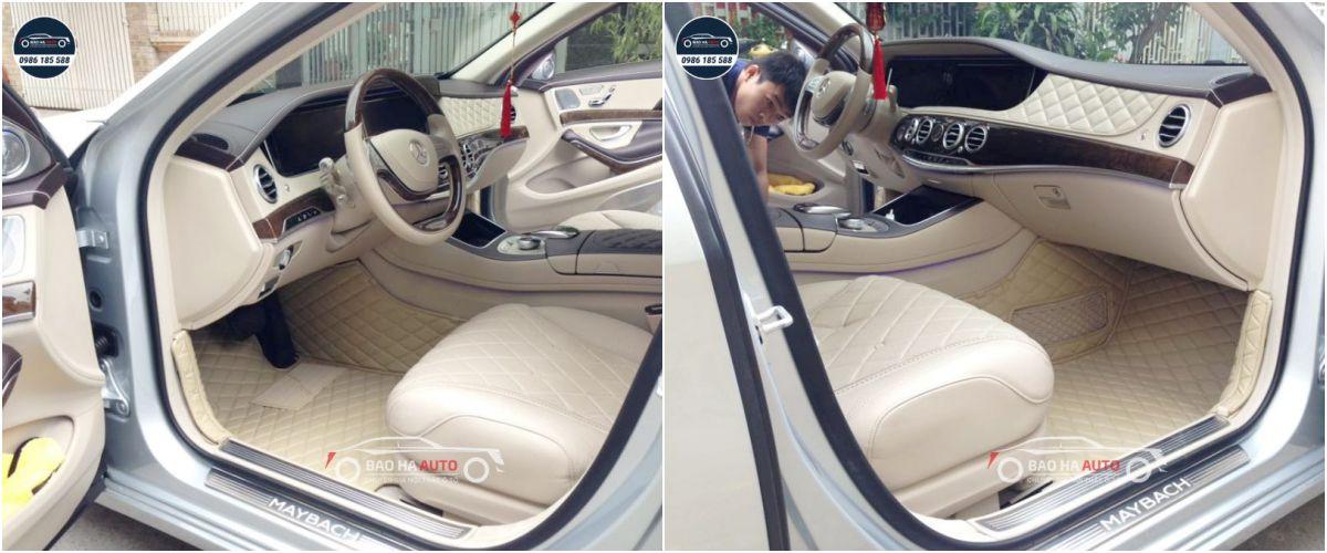 Thảm lót sàn ô tô da công nghiệp cho xe Mercedes (da cao cấp)