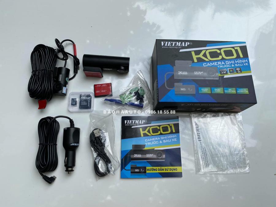 Vietmap KC01 Camera hành trình ghi hình trước sau nhỏ gọn cho ô tô