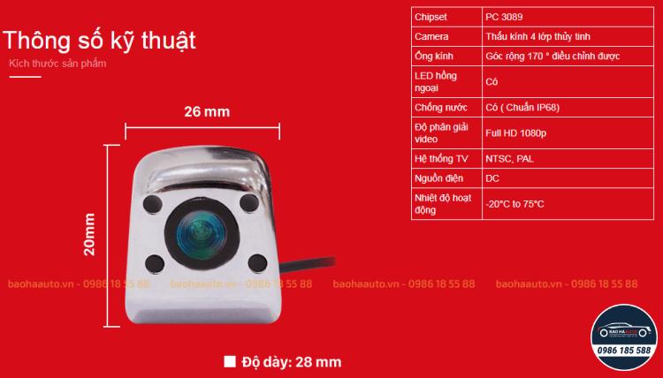 VietMap VM3089 – Camera lùi ô tô chính hãng VietMap (100% cao cấp)