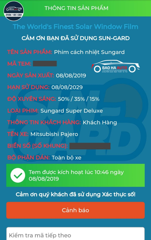 Phim cách nhiệt ô tô Sungard – Super Deluxe (chính hãng, giá rẻ)