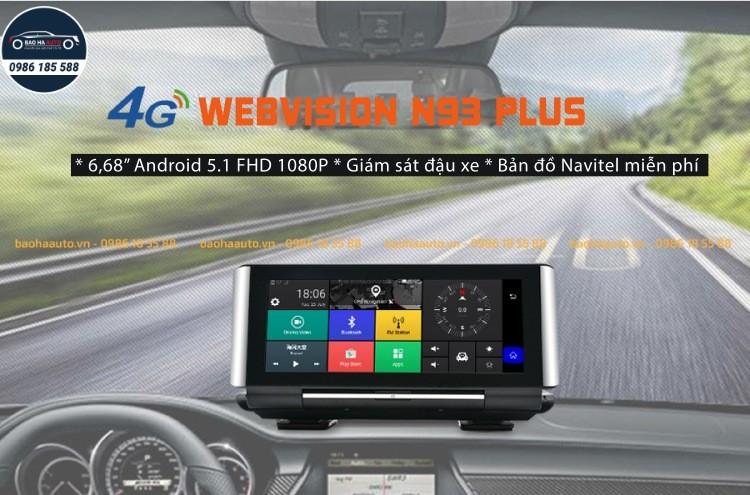 Webvision N93 Plus – Camera hành trình kép dẫn đường thông minh