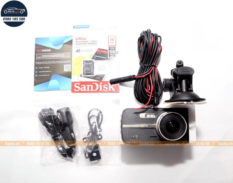 Webvision S5 – Camera hành trình ghi hình trước sau chính hãng